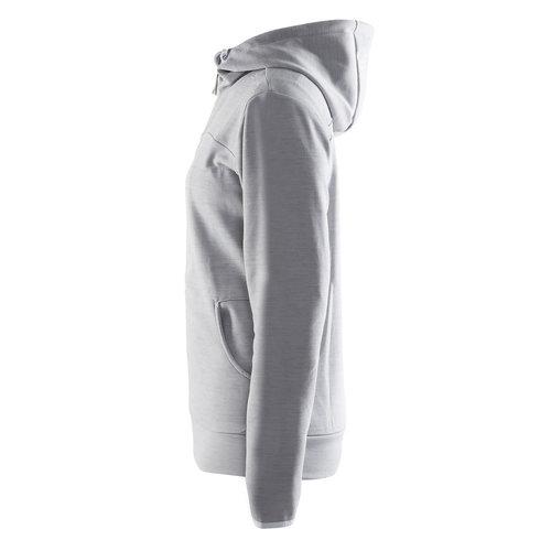 Craft Craft Leisure Hood Full Zip vest, dames, Grey Melange