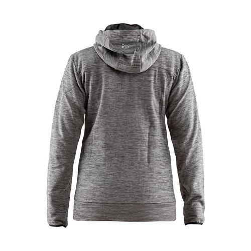 Craft Craft Leisure Hood Full Zip vest, dames,  Dark Grey Melange