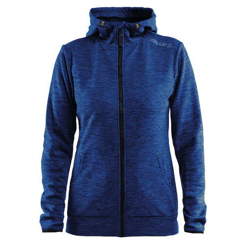 Craft Craft Leisure Hood Full Zip vest, dames,  Deep Melange