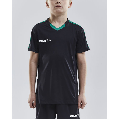 Craft Craft Progress Jersey Contrast, junior, Black/Green