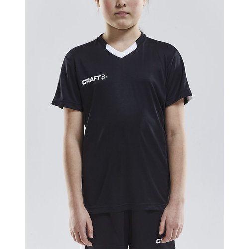 Craft Craft Progress Jersey Contrast, junior, Black/White