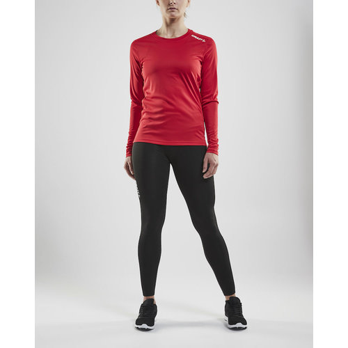 Craft Craft Rush Long Sleeve Tee, dames, Bright Red
