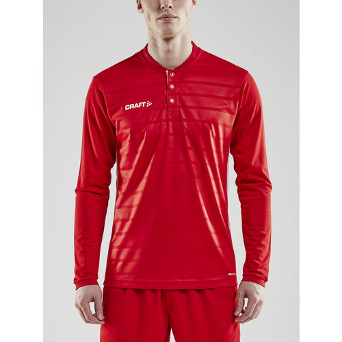 Craft Craft Pro Control Button Jersey long sleeve, heren, Bright Red
