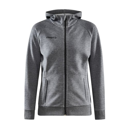 Craft Craft Core Soul Full Zip Hood, dames, Dark Grey Melange