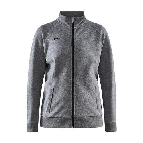 Craft Craft Core Soul Full Zip Jacket, dames, Dark Grey Melange