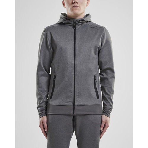 Craft Craft Noble Full Zip Hood, heren, Dark Grey