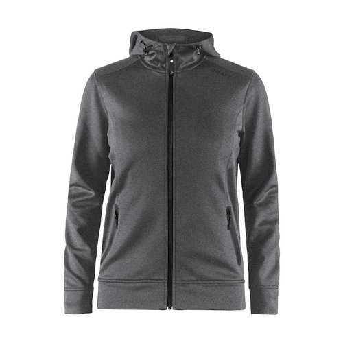 Craft Craft Noble Full Zip Hood, dames, Dark Grey