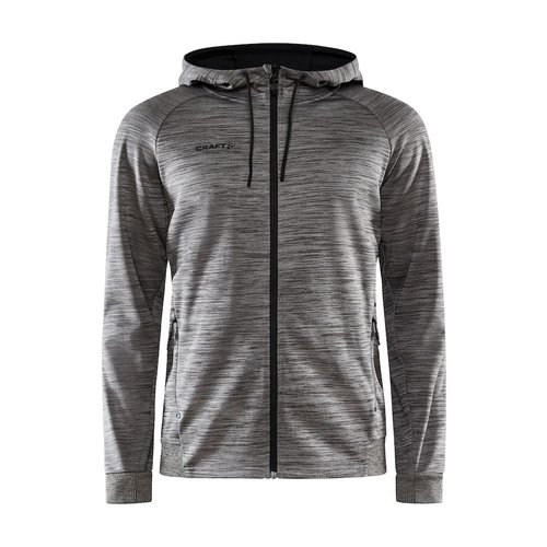 Craft Craft ADV Unify Full Zip Hood, heren, Dark Grey