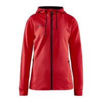 Craft ADV Unify Full Zip Hood, dames, Bright Red