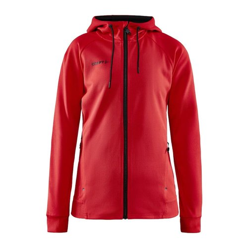Craft Craft ADV Unify Full Zip Hood, dames, Bright Red