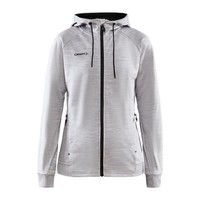 Craft ADV Unify Full Zip Hood, dames, Grey Melange