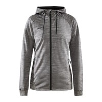 Craft ADV Unify Full Zip Hood, dames, Dark Grey Melange