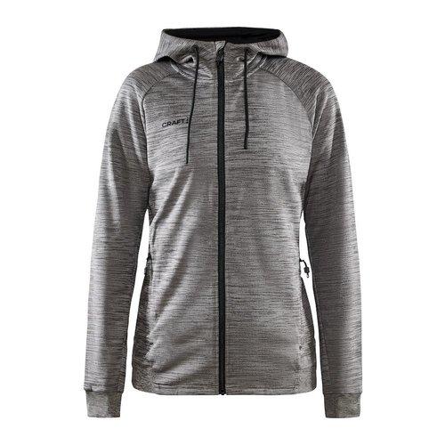 Craft Craft ADV Unify Full Zip Hood, dames, Dark Grey Melange