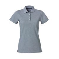Heavy Premium Polo, dames, Grijs Melange