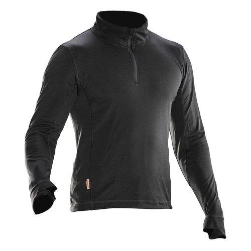 Jobman 5542, Underwear Sweater Poloneck, heren, zwart