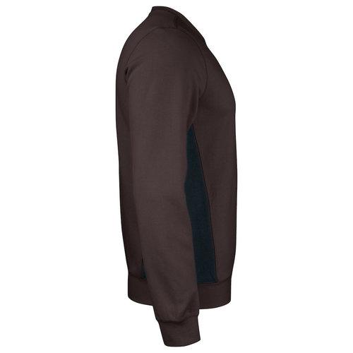 Jobman 5402, Roundneck Sweatschirt, heren, Bruin/Zwart