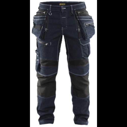 Blåkläder  Blaklader 1990, Werkbroek Denim  Stretch X1900, zwart/blauw