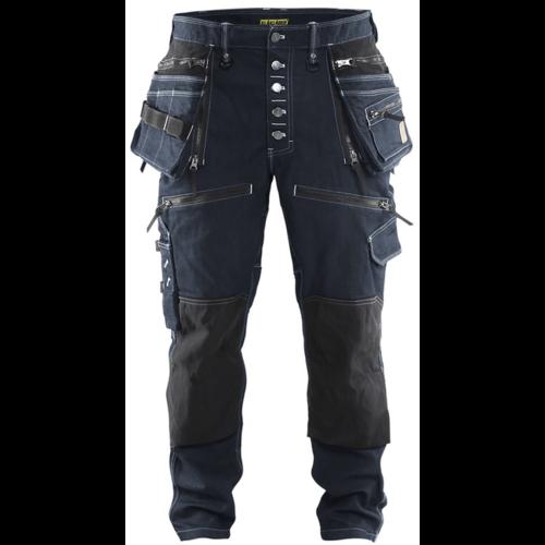 Blåkläder  Blaklader 1999,  Baggy Denim Stretch X1900, navy/zwart