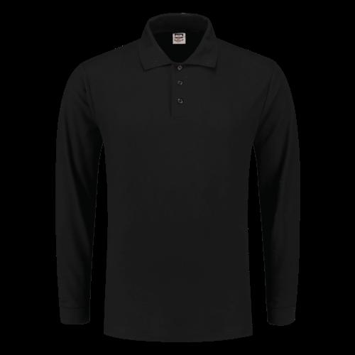 Tricorp, Poloshirt lange mouw, unisex, Zwart
