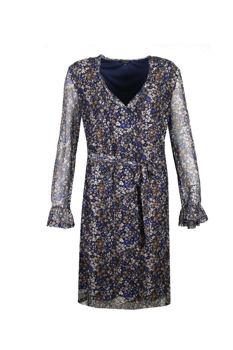G-Maxx G-Maxx jurk Aukje donkerblauw mix