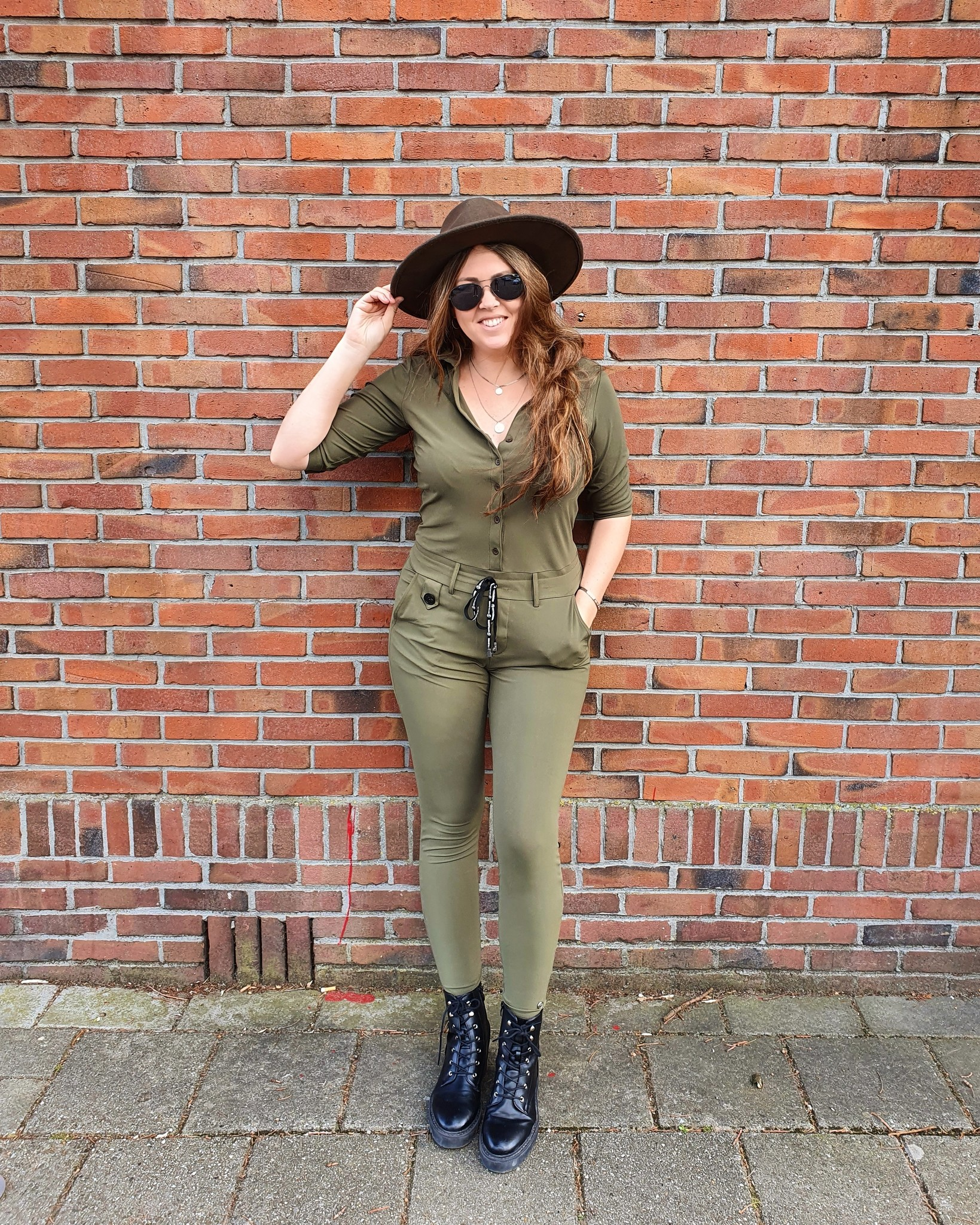My Pashion Jumpsuit Jumpsy Short Sleeve Army