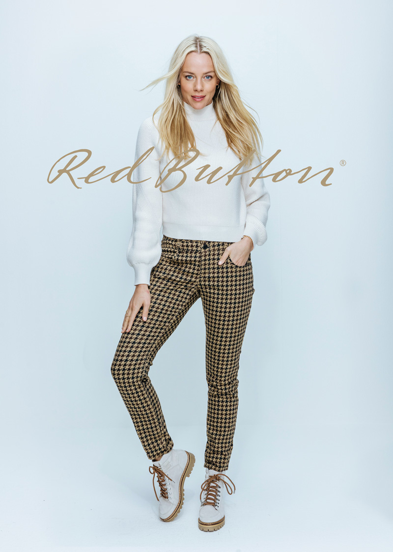 Red Button Red Button broek Sienna dogtooth