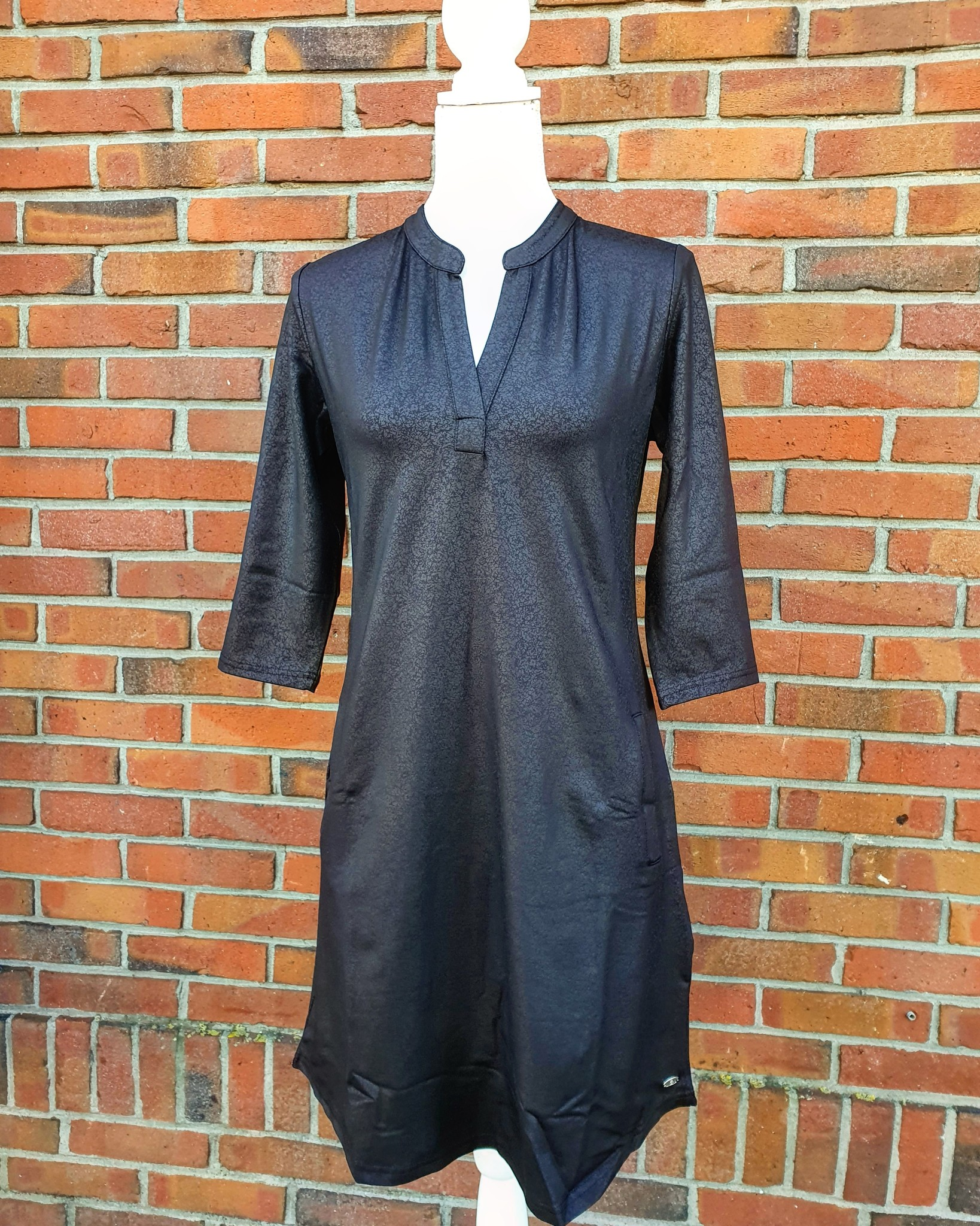 Angelle Milan Angelle Milan jurk leatherlook zwart 1467
