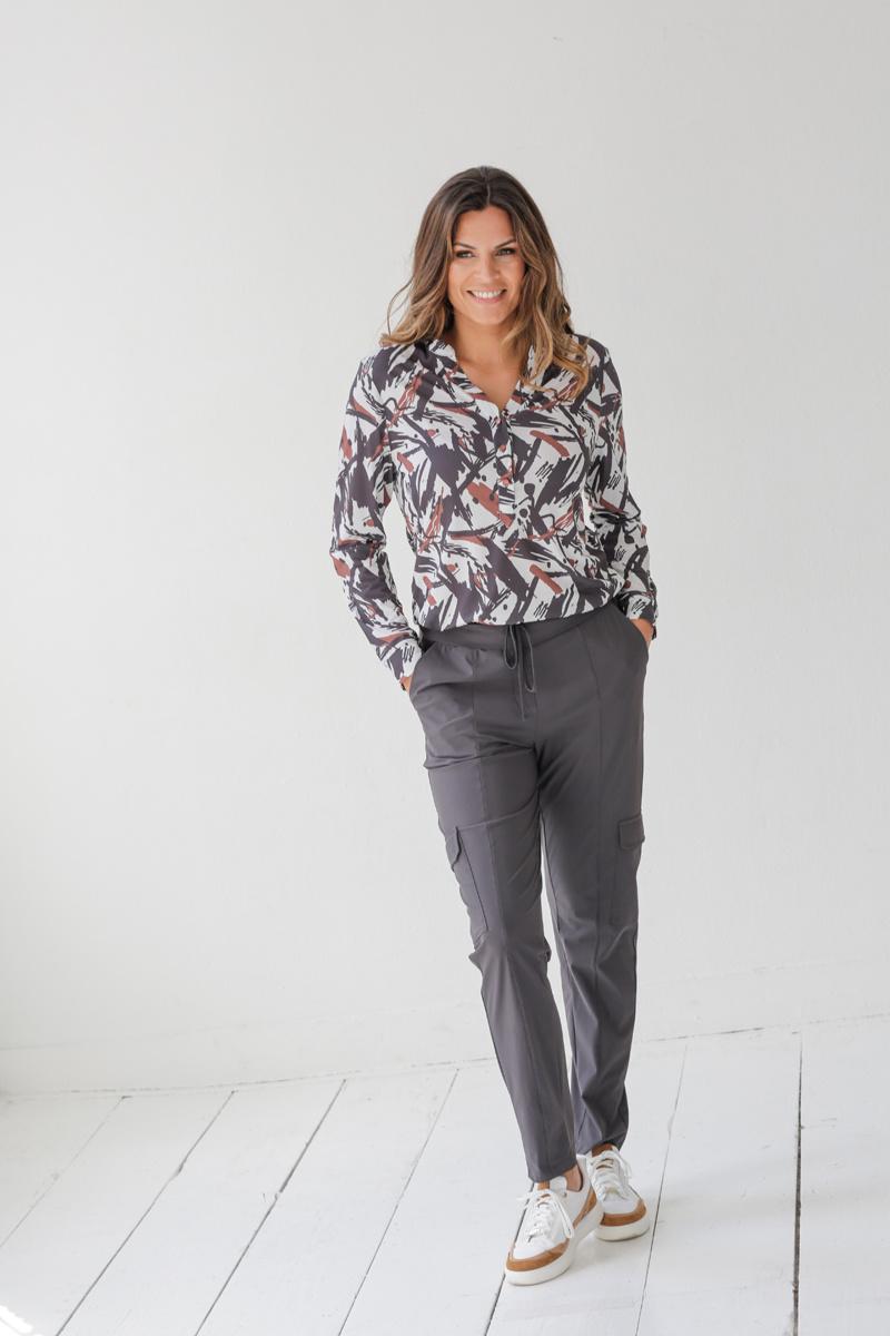 Zoso Zoso blouse Shirley Splendour printed off white/cognac