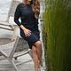 Zoso Zoso jurk Soraya Luxury knitted boatneck navy