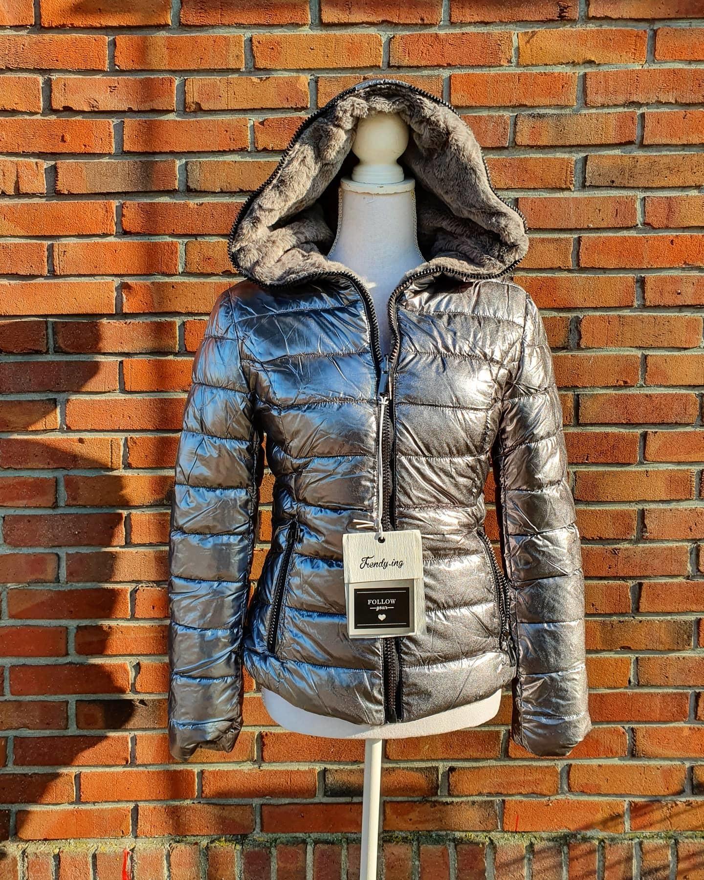 Trendy Trendy winterjas twee kanten draagbaar