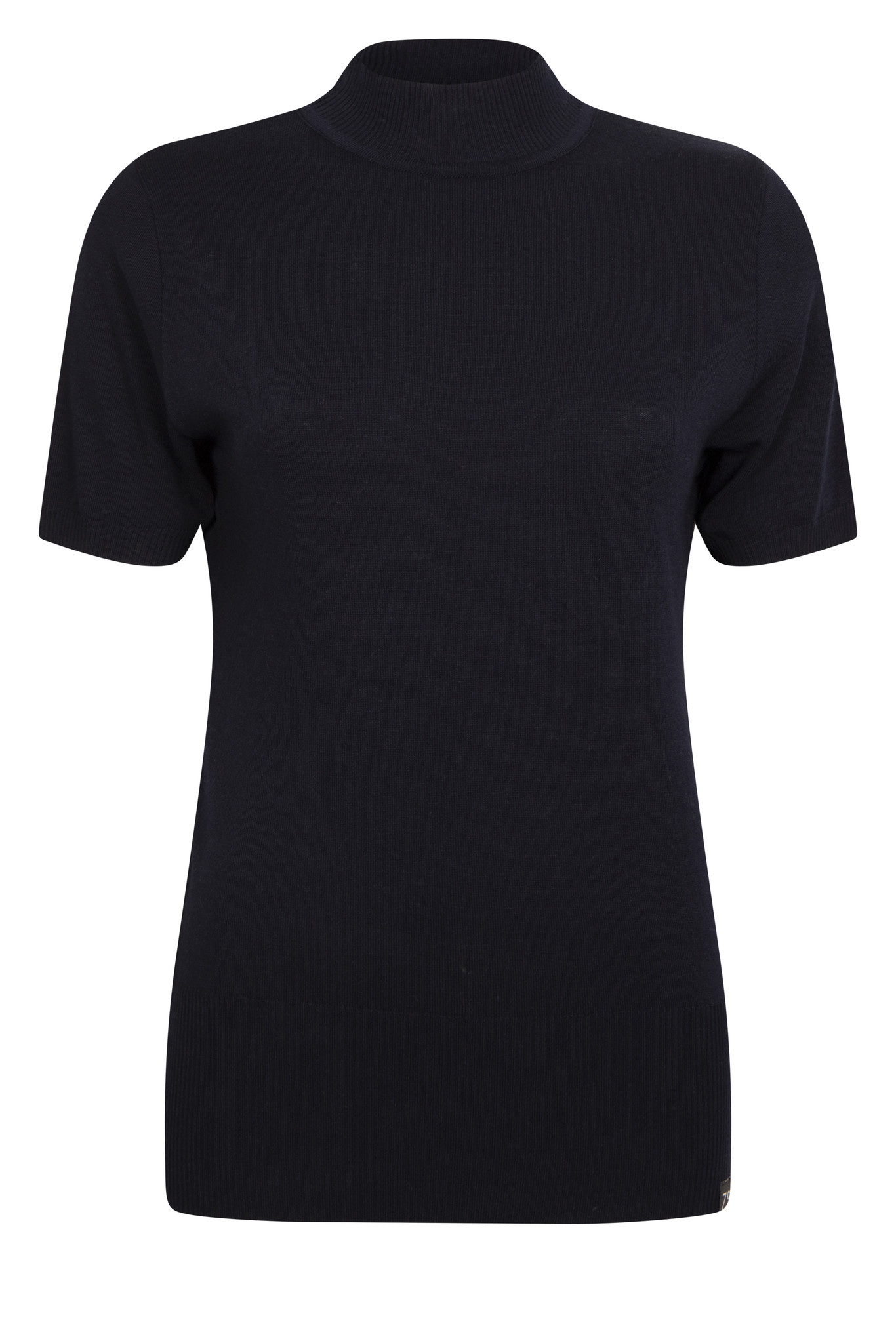 Zoso Zoso trui Marnix Luxury knit short sleeve pull navy