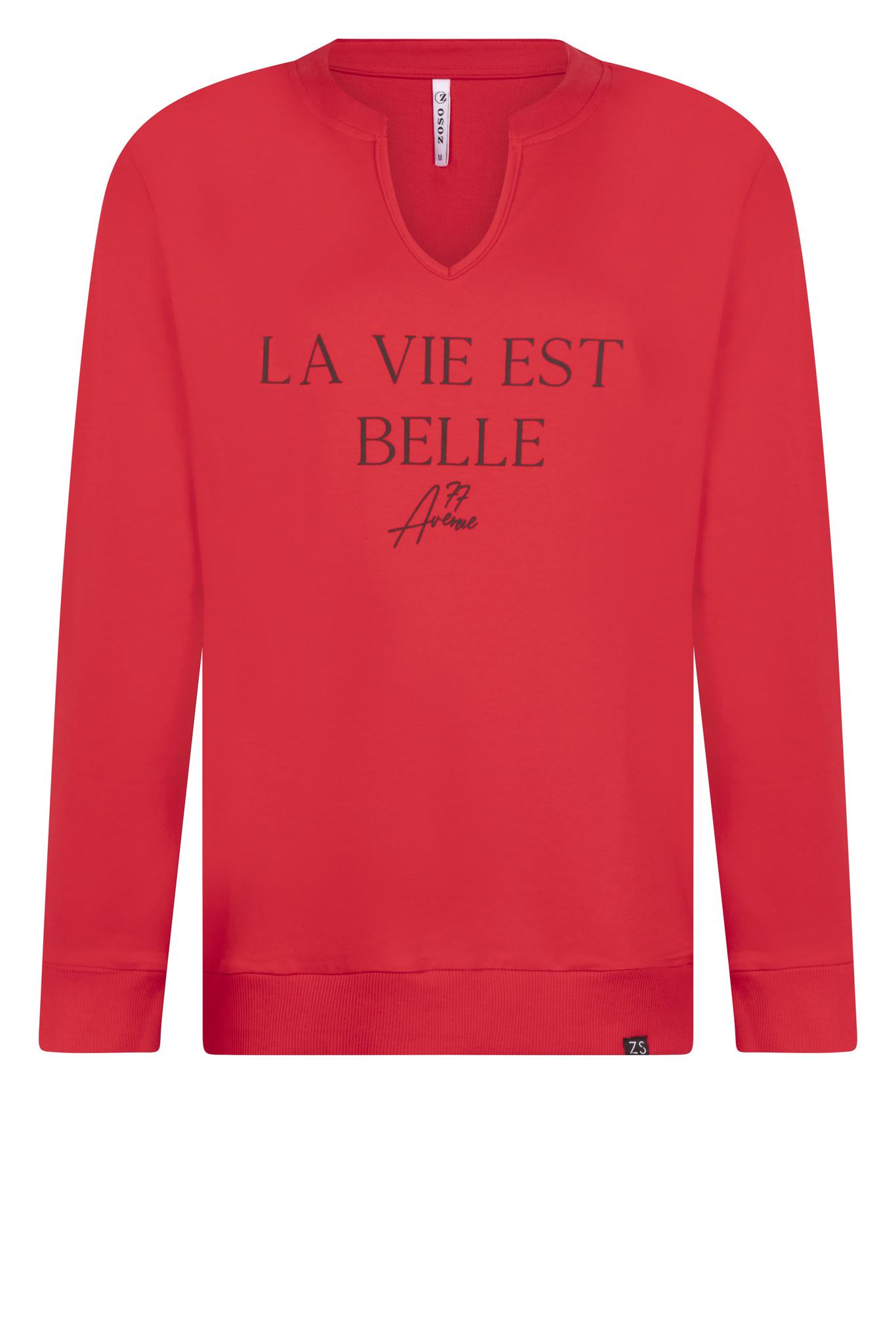 Zoso Zoso Belle trui chestprint rood/zwart