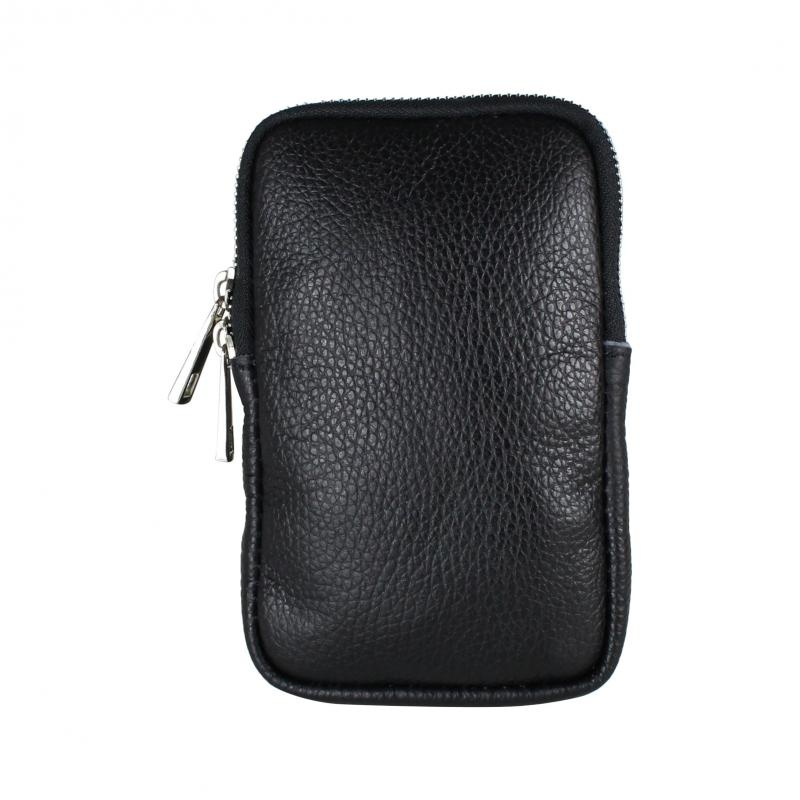 Baggyshop Call me up leather zwart/zilver