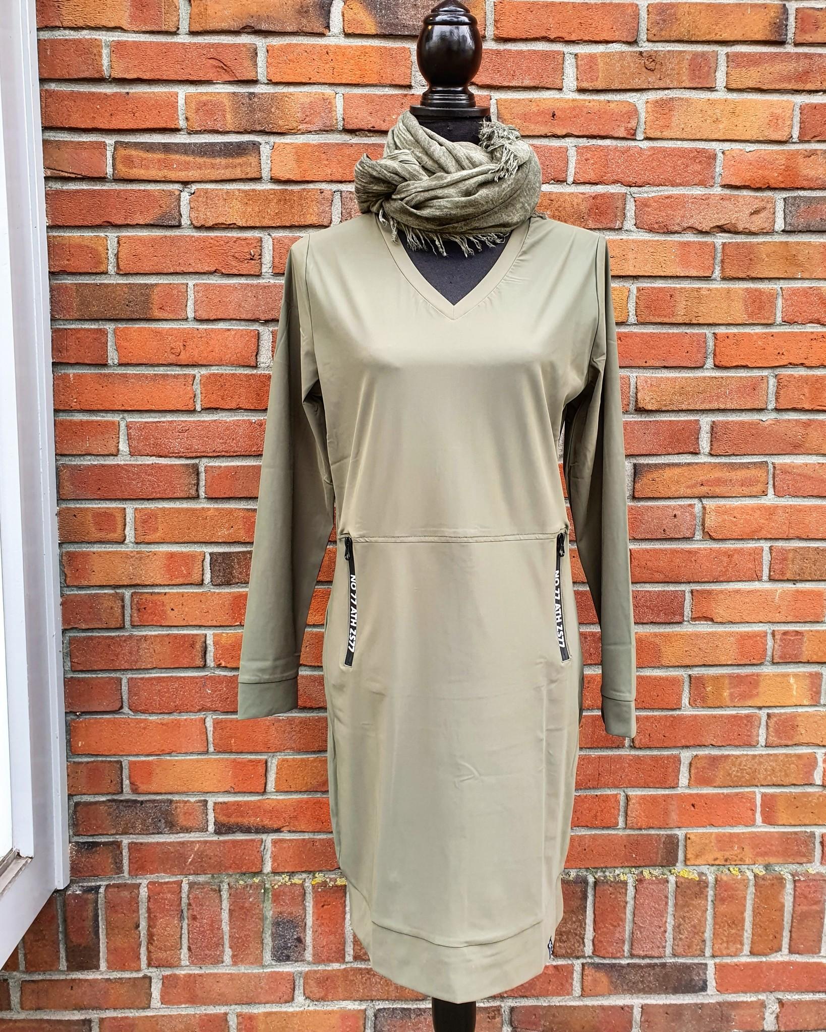 Zoso Zoso Patricia jurk tech zipper army