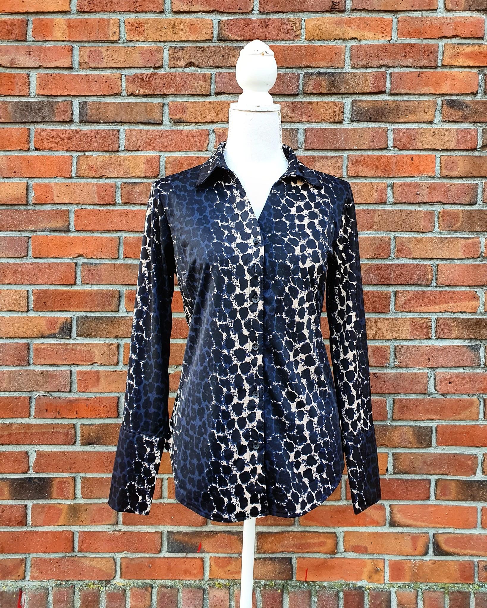 My Pashion My Pashion shirt Shantionea leopard beige blue black