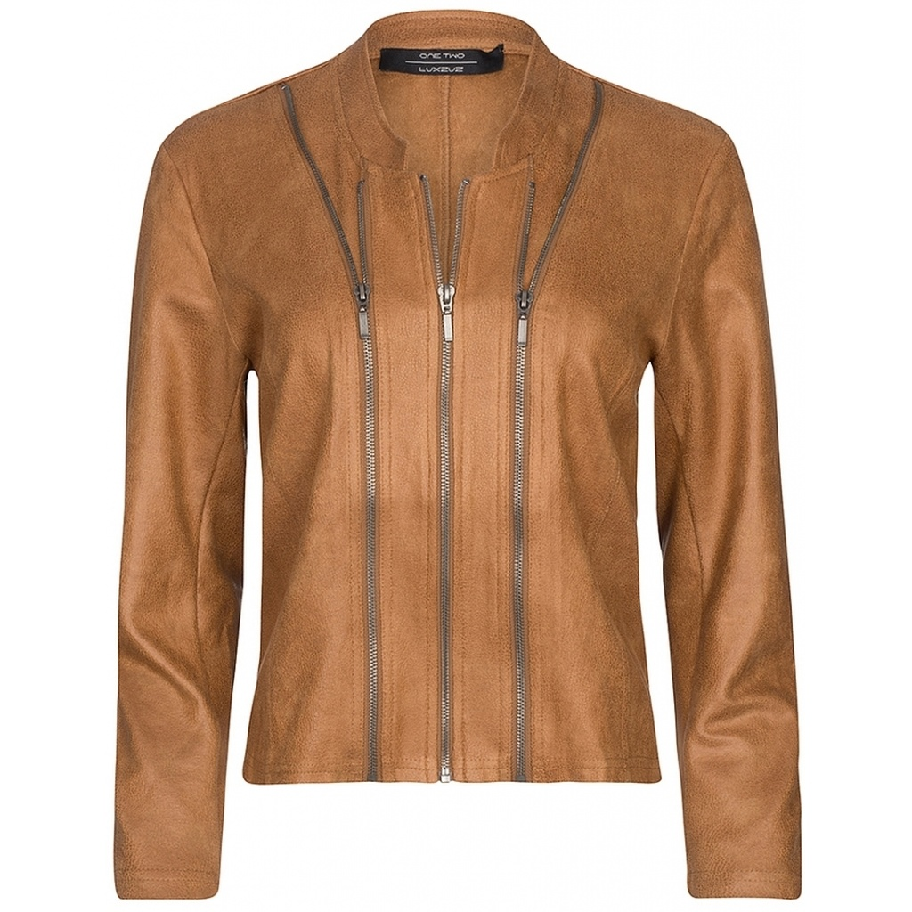 One Two Luxzuz One Two Luxzuz Athena Coated suede Jacket Leather
