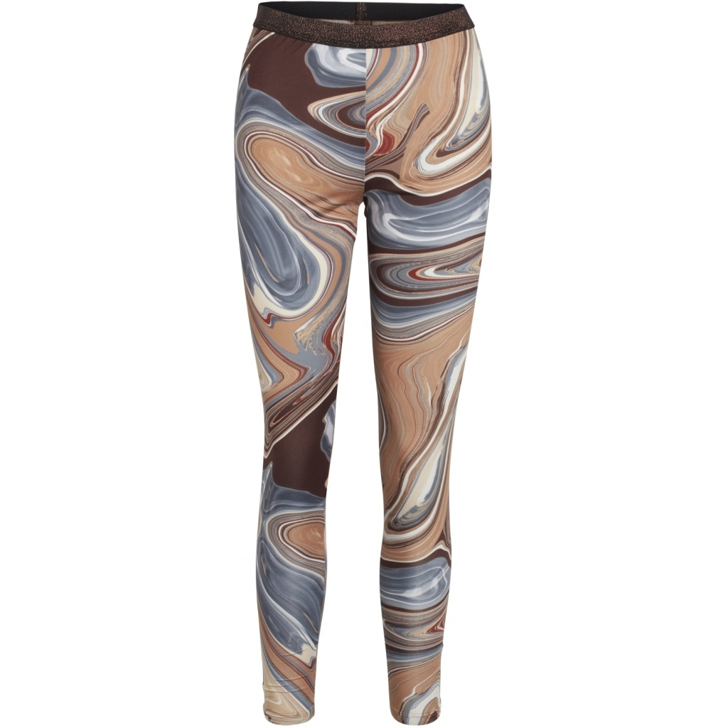 One Two Luxzuz One Two Luxzuz  Ayoe Marble legging  leather color