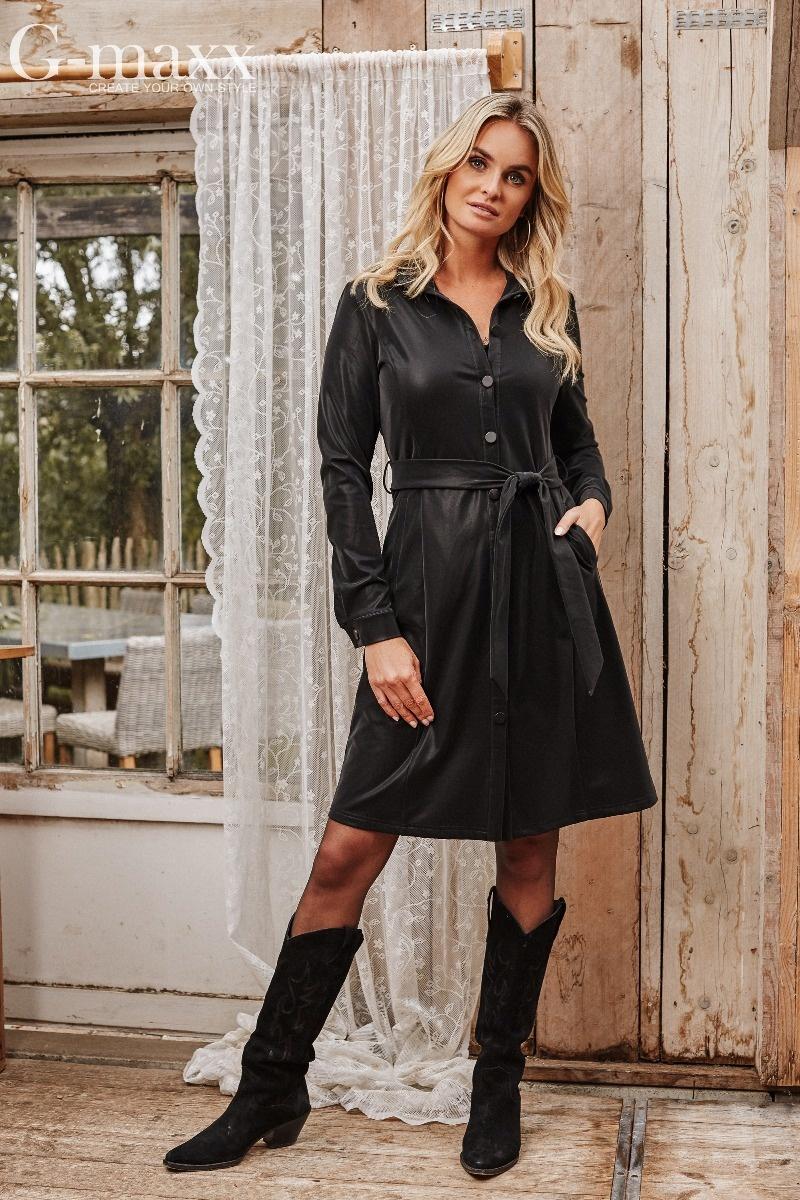 G-Maxx G-Maxx jurk Dionne zwart