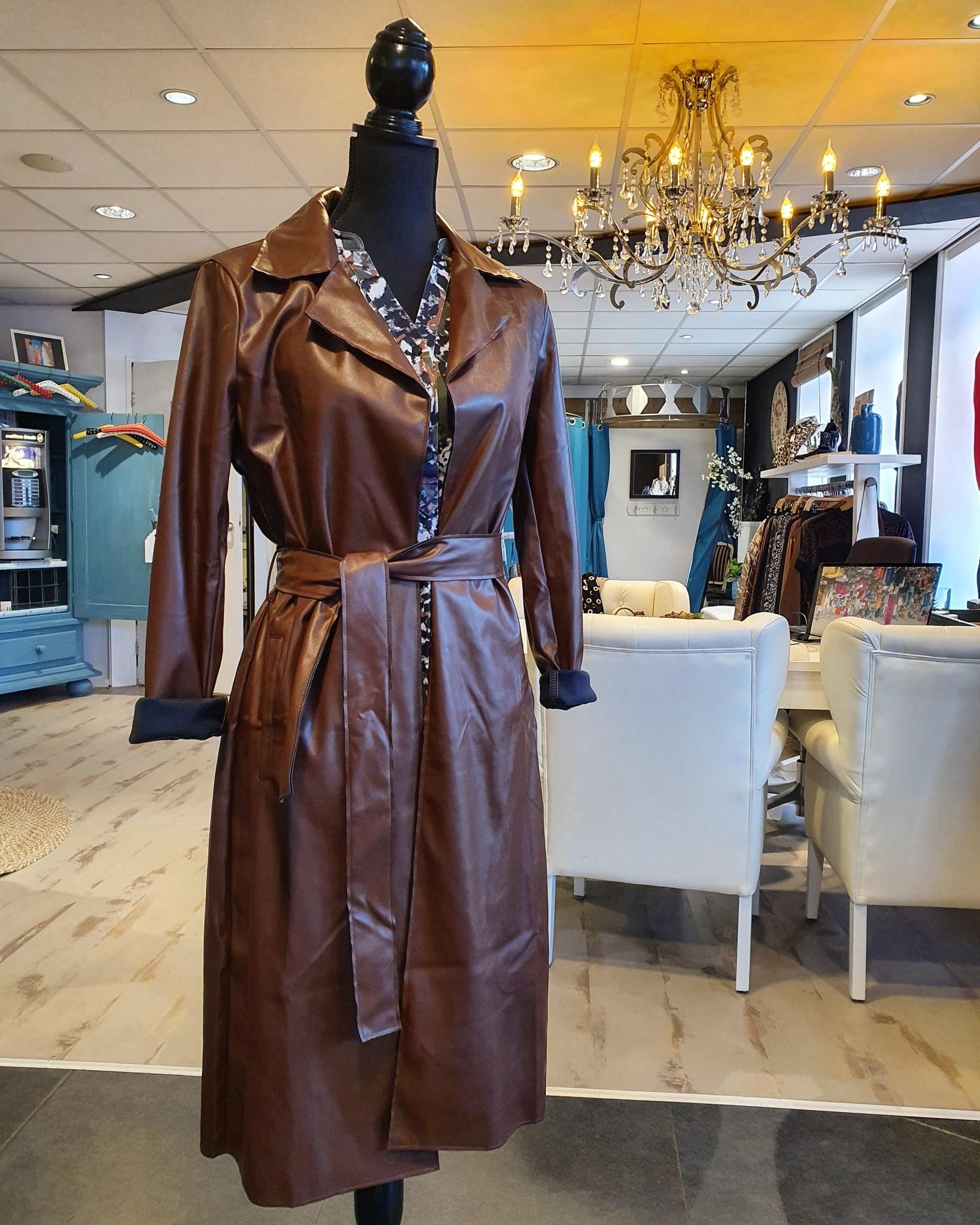 Y-Conic Leatherlook jas bruin