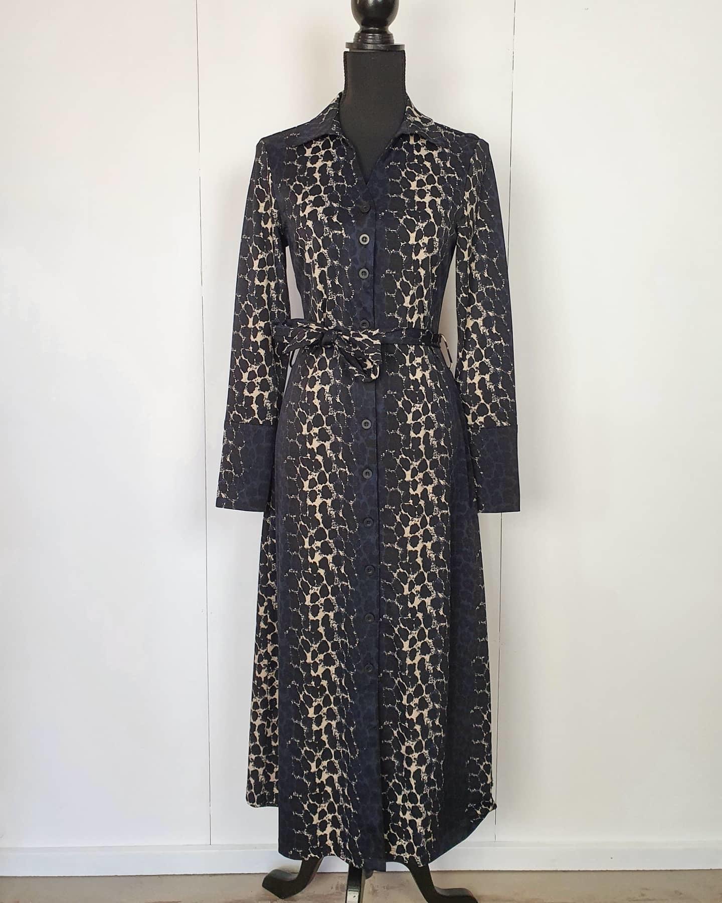 My Pashion My Pashion jurk Dantionea leopard beige blue black