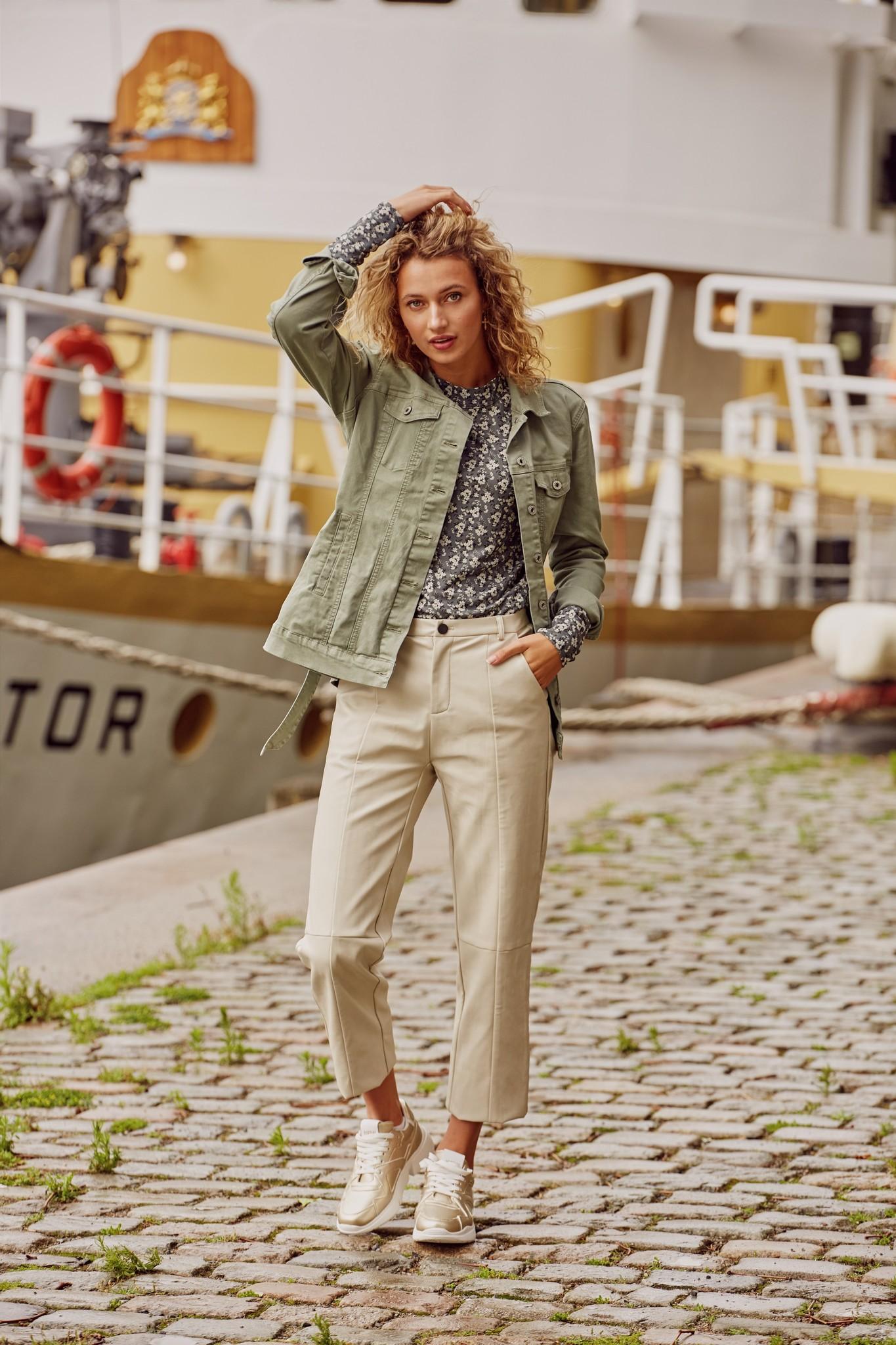 C&S The label C&S The label top Ilona Gewassen groen/zand