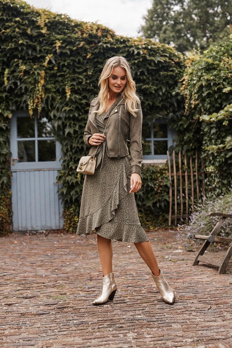 G-Maxx G-Maxx jurk Anastasia gewassen groen