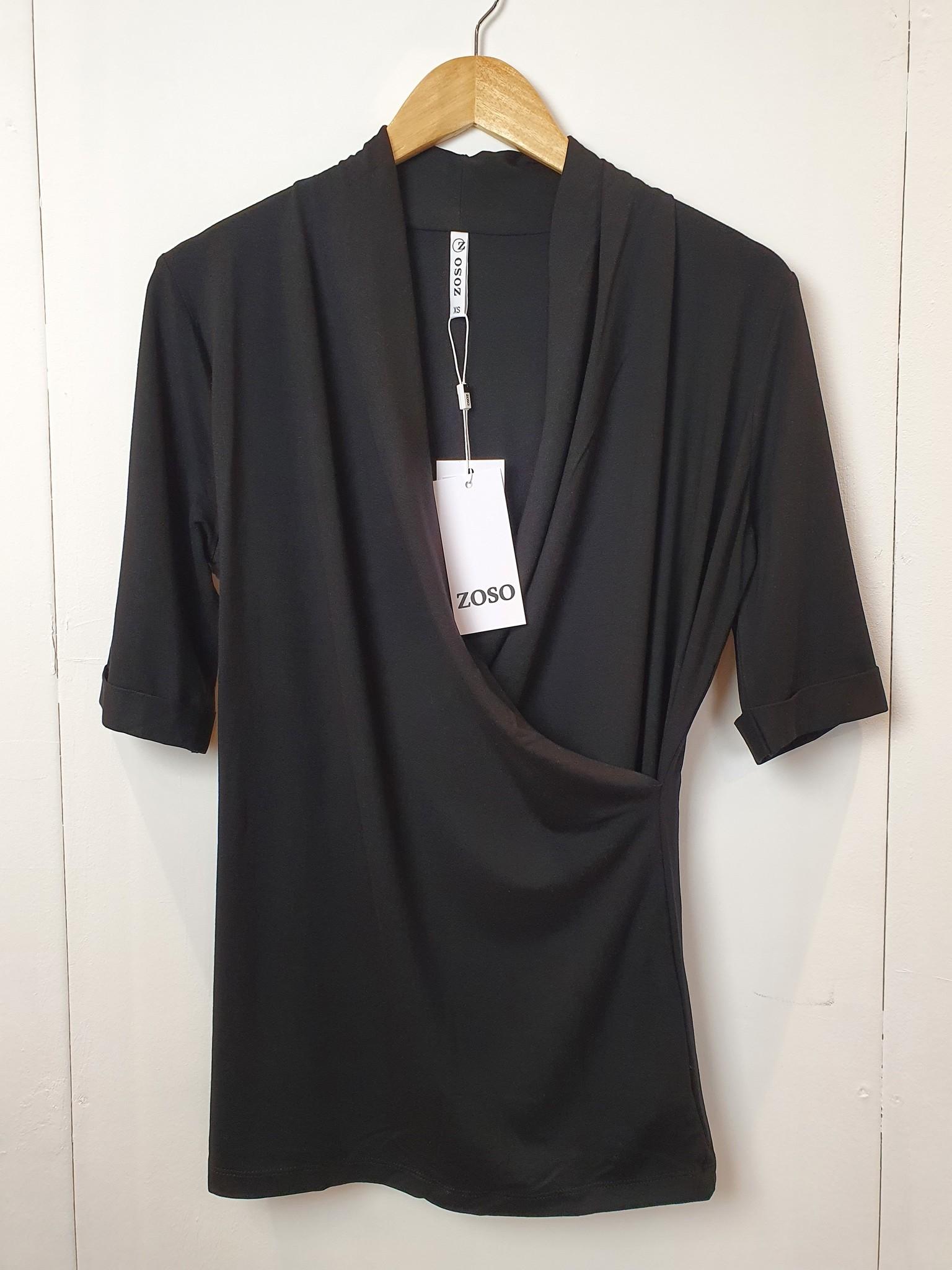 Zoso Zoso Dana Luxury viscose blouse black