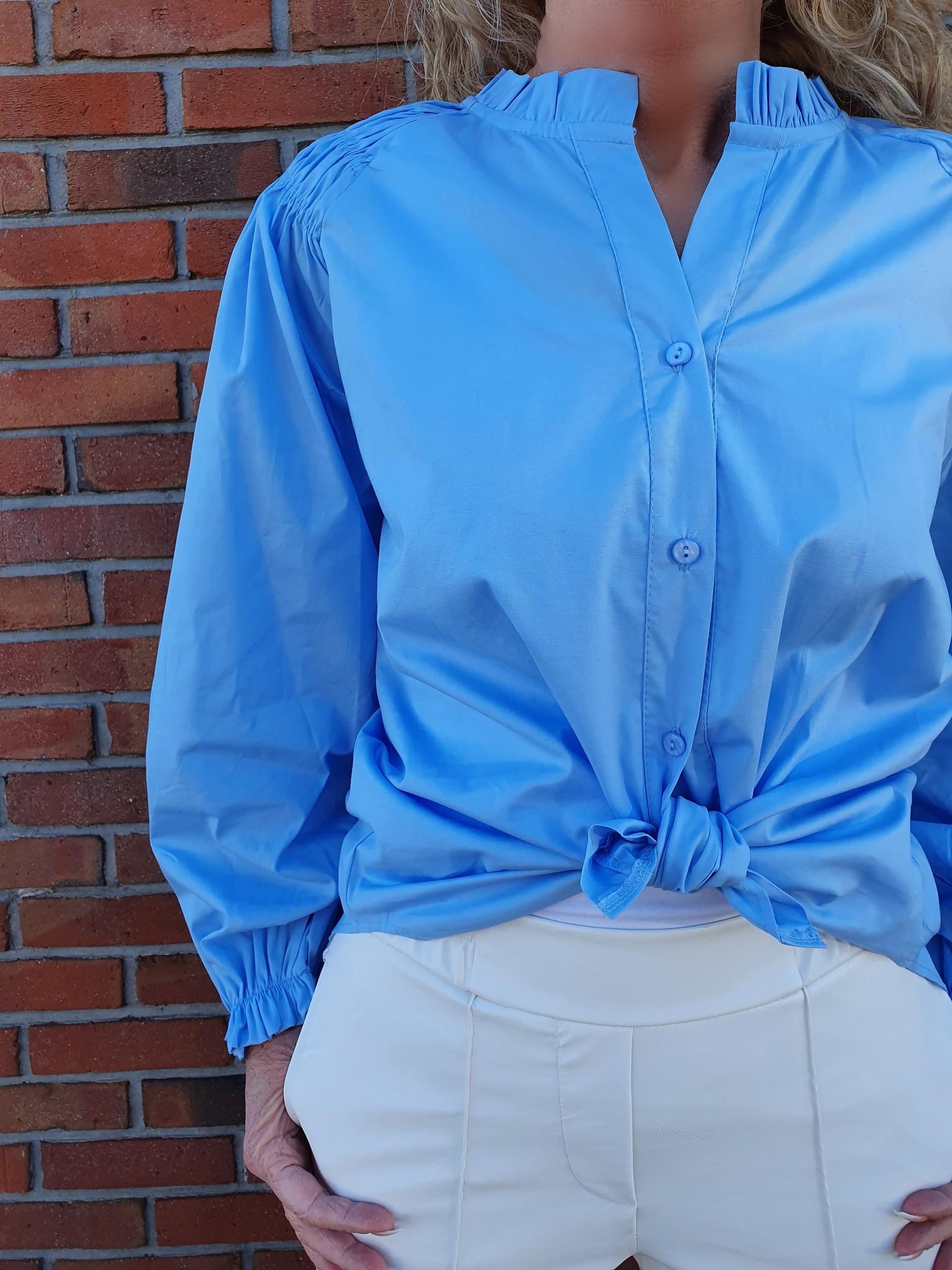 Chastar Chastar blouse ijsblauw