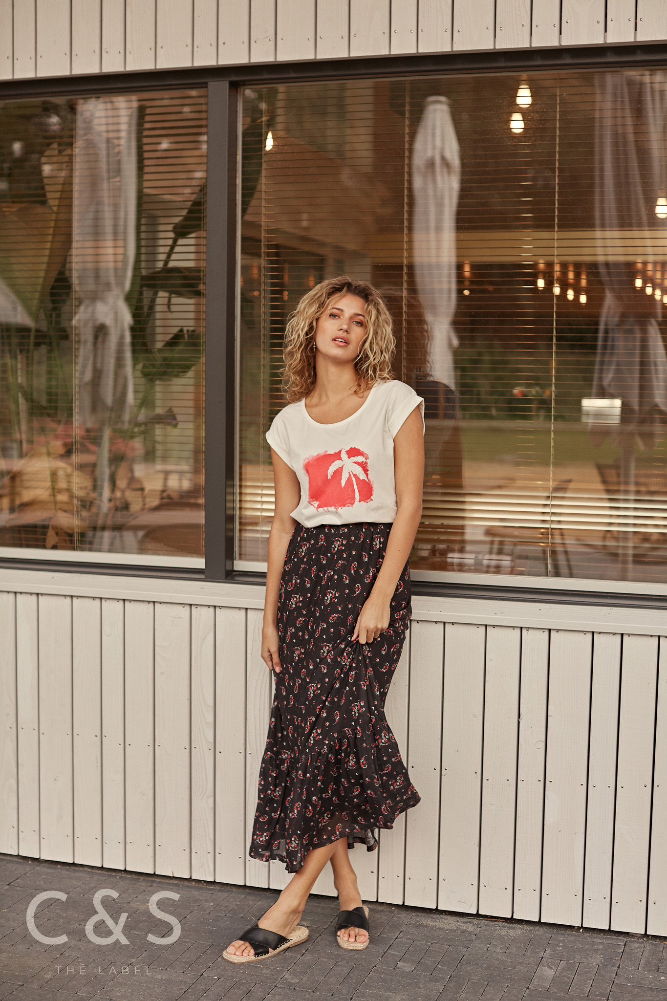C&S The label C&S The label rok Madou zwart/rood