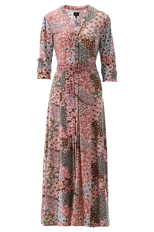 K-Design K-Design Maxi jurk met print & riem S146