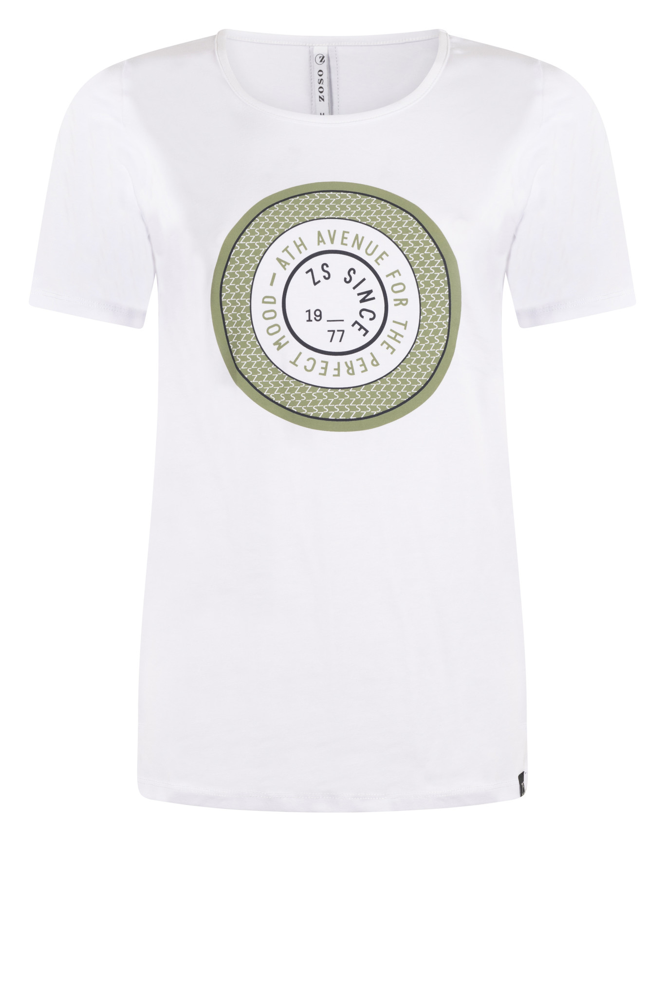 Zoso Zoso Lenny T-shirt white/green