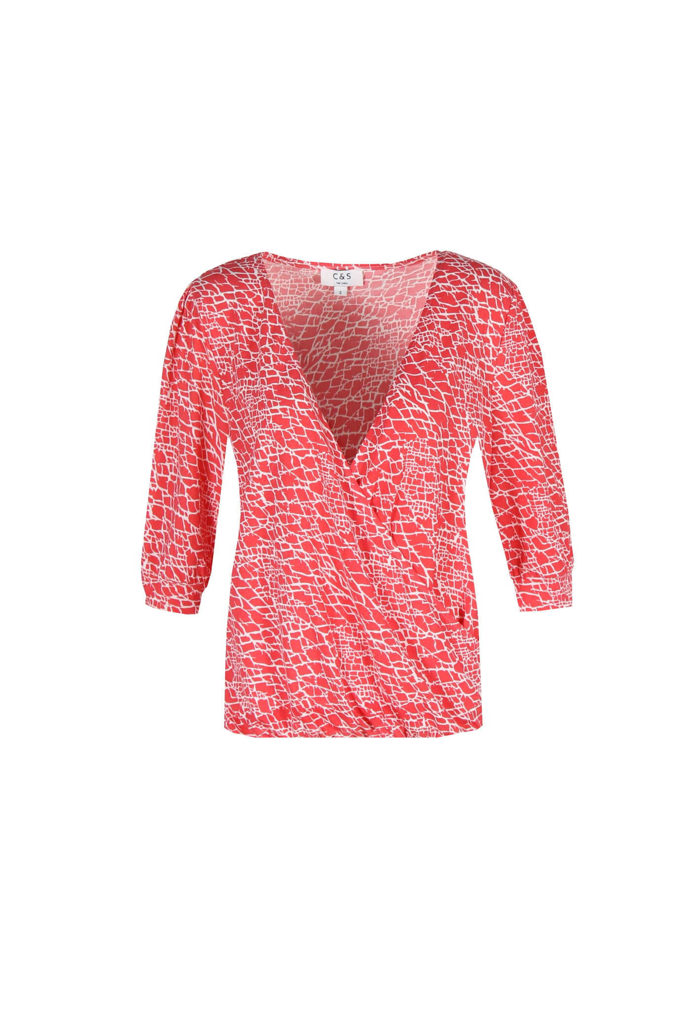 C&S The label C&S The label blouse Maartje rood/off-white