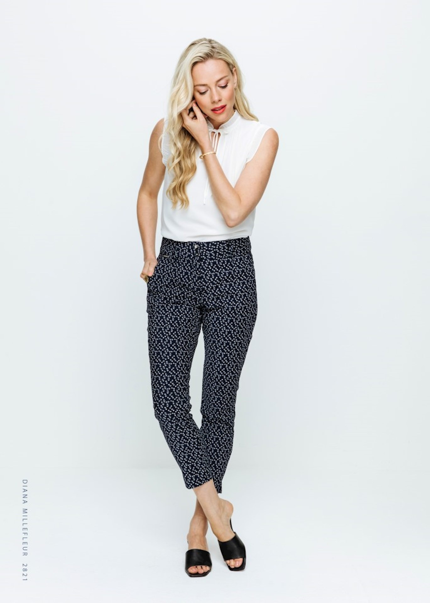 Red Button Red Button broek Diana Millefleur navy