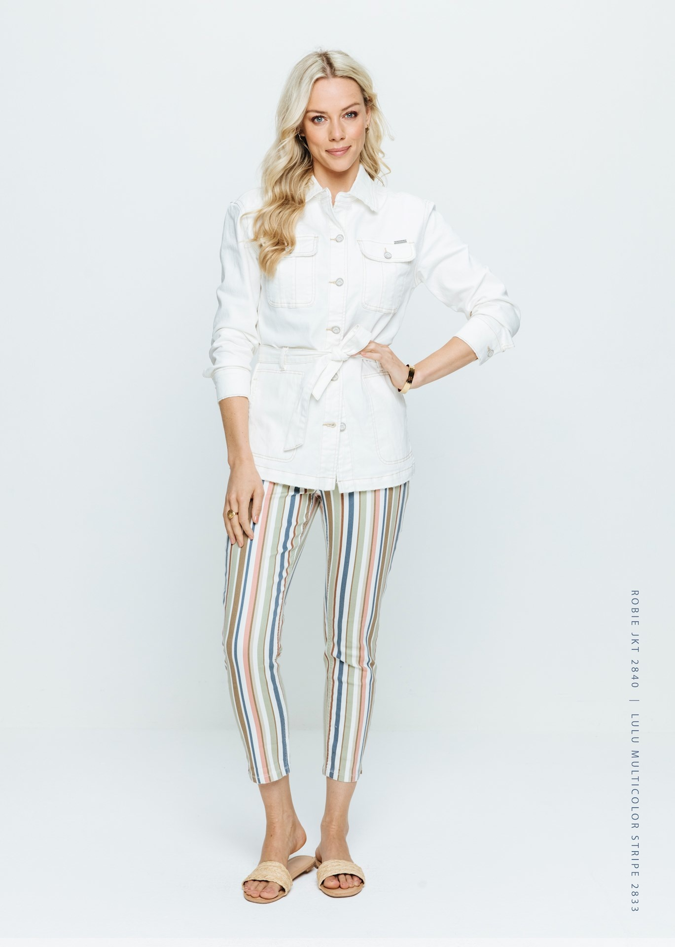 Red Button Red Button broek Lulu multicolor stripe